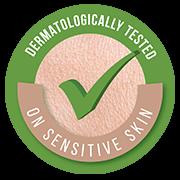 testado dermatológicamente en pieles sensibles
