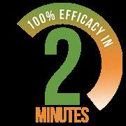 100% eficaz en 2 minutos